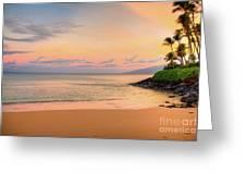 Sunrise At Napili  Greeting Card