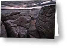 Sunrise At Otter Cliffs #5 Greeting Card