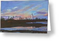 Sunrise At Point Prim Greeting Card