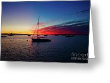 Sunrise At Provincetown Pier 1 Greeting Card