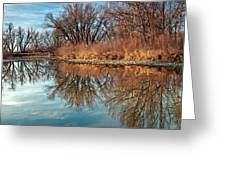 Sunrise At River Bend Ponds Greeting Card