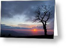 Sunrise At Saddle Overlook Greeting Card