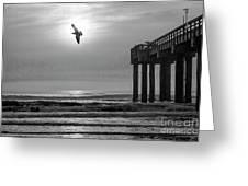 Sunrise At Saint Augustine Pier Greeting Card