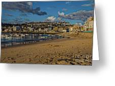 Sunrise At St Ives Greeting Card