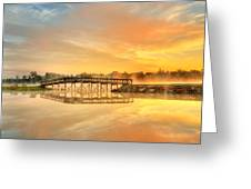 Sunrise At Sunset Lake Greeting Card