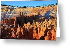 Sunrise At Sunset Point In Bryce Canyon National Park Greeting Card
