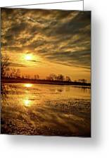 Sunrise At The Big Marsh 2 Greeting Card