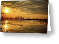 Sunrise At The Big Marsh Greeting Card