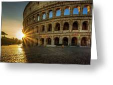 Sunrise At The Colosseum Greeting Card