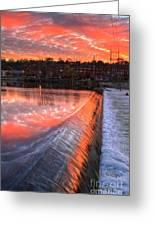 Sunrise At The Dam Greeting Card