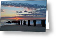 Sunrise At The Jersey Shore Greeting Card