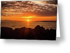 Sunrise At The Jetty Greeting Card