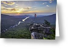 Sunrise At The Rock Greeting Card
