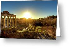 Sunrise At The Ruins Greeting Card