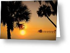 Sunrise At The Space Coast Fl Greeting Card
