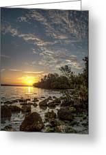 Sunrise At The Sunshine Skyway Greeting Card