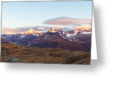Sunrise At The Swiss Alps Greeting Card