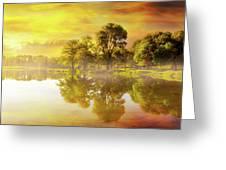 Sunrise At Trojan Park In Rainier Oregon Greeting Card