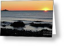 Sunrise At York Beach Greeting Card