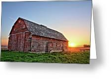 Sunrise Barn Greeting Card