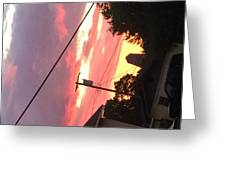 Sunrise Behind Cliffs Shaft Greeting Card