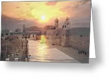 Sunrise Bethlehem Greeting Card