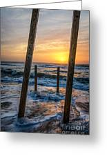 Sunrise Between The Pillars Landscape Photograph Greeting Card