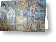 Sunrise Blue House Ats Greeting Card