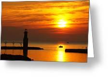 Sunrise Brushstrokes Greeting Card
