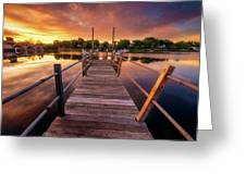 Sunrise By The Ramp Greeting Card