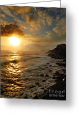 Sunrise By The Rocks Greeting Card