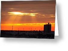 Sunrise Cape Canaveral Florida Greeting Card
