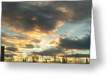 Sunrise Cloudscape Greeting Card