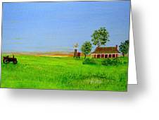 Sunrise - Country Australia Painting Greeting Card