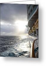 Sunrise Cruise Greeting Card