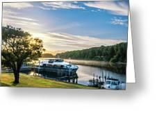 Sunrise Cruise To Doubtful Sound, New Zealand Greeting Card