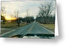 Sunrise Down The Road Greeting Card