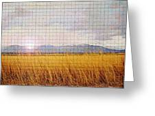 Sunrise Field 1 - Mosaic Tile Effect Greeting Card