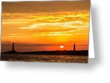 Sunrise Field Goal Greeting Card