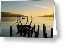Sunrise From Governors Bay Greeting Card by Barry Culling
