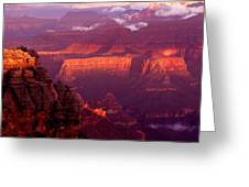 Sunrise From Mather Point Greeting Card
