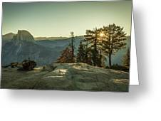 Sunrise Glacier Point Greeting Card