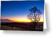 Sunrise Glow In Autumn Greeting Card