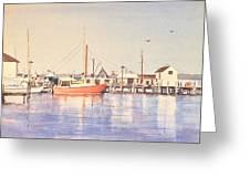 Sunrise Harbor Greeting Card