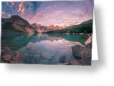Sunrise Hour At Banff Greeting Card