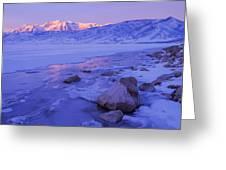 Sunrise Ice Reflection Greeting Card