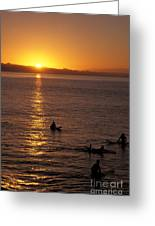 Sunrise In Capitola Greeting Card by Stan and Anne Foster