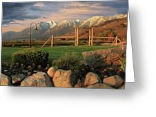 Sunrise In Carson Valley Greeting Card