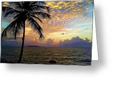 Sunrise In Fajardo, Puerto Rico Greeting Card