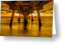 Sunrise In Ft Lauderdale Pier Greeting Card